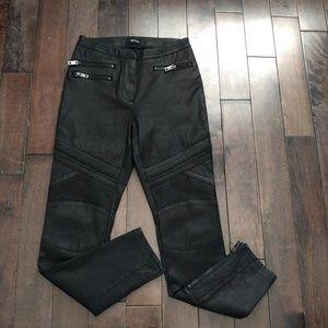Aritzia Talula Moto Skinny Black Pants
